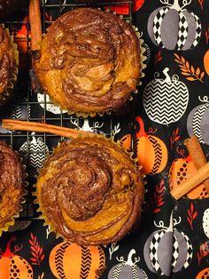 Pumpkin Chocolate Hazelnut Muffins
