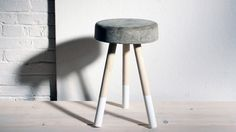 HomeMade Modern, Episode 8 – DIY $5 Bucket Stool. Episode 8 of HomeMade Modern shows how to make a concrete and wood stool in a bucket.