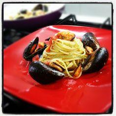 I Pasticci della Pupa: Spaghetti cozze e pesto
