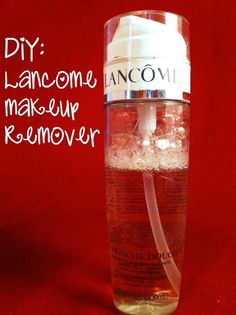 Easy DIY: Lancome makeup remover, less than $ 1 a bottle!!!  4 parts purified water to 1 part glycerin!