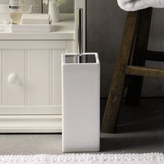 Newcombe Ceramic Toilet Brush Holder | Newcombe Ceramics | Home Collections | The White Company UK