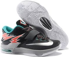huge discount 7d9d4 a9497 Nike KD 7 Easter Black Red Blue Sneakers Jordan Shoes For Women, Jordan  Shoes Online