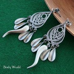 Telkari - sterling silver earrings, made by Birdy World on DaWanda