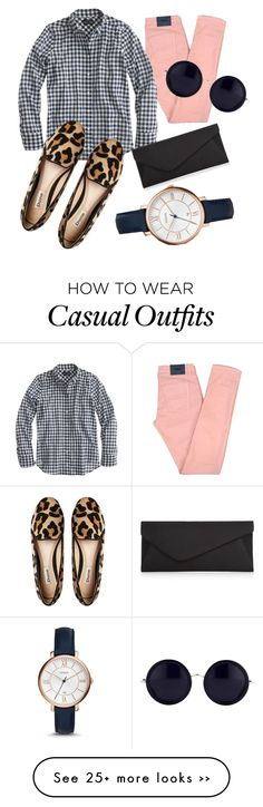 """""""Casual business"""" by mkurkjian on Polyvore featuring moda, Filippa K, J.Crew, Dune, Accessorize, FOSSIL y The Row"""