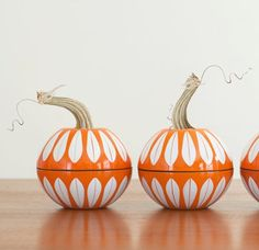 Mid Century Modern Pumpkins