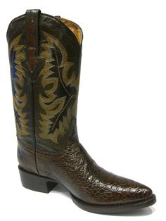 MEN'S BROWN LEATHER BELLY CROCODILE ALLIGATOR Belly cut COWBOY BOOTS