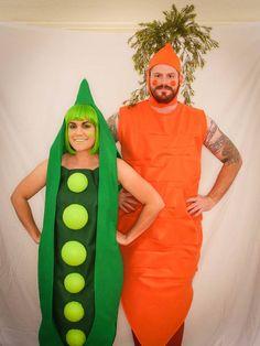Peas & Carrot Couples Costume