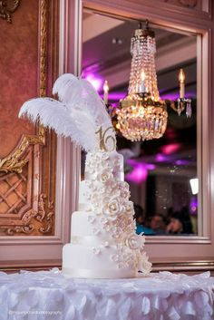 Be blown away by the birhday cake at Gabriella's Gatbsy Sweet 16 Birthday Party! See more ideas and share yours at CatchMyParty.com