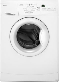 """Maytag MHWC7500YW 24"""" Front-Load Compact Washer with 2.0 cu. ft. Capacity, 8 Wash Cycles, Flexible Wash Options, IntelliFill Water Level Sensor Stainless Steel Drum"""