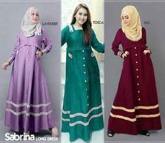 Gamis Remaja Sabrina B067 Katun - Model Baju Muslim Terbaru