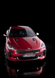 The Kia Stinger has been unveiled! Designed in Frankfurt, developed on the Nürburgring, and with Kia's industry-leading quality. We're looking forward to seeing this one! Peugeot, Kia Stinger, Upcoming Cars, Mercedez Benz, Reliable Cars, Top Luxury Cars, Kia Motors, Kia Rio, Mc Laren