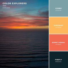 San Diego sunset color palette #colorexplorers #colorpalette