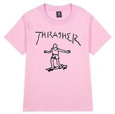 Mens Women T-Shirt Thrasher Flame Skateboard Mag Top Tee Unisex Medium Shirt