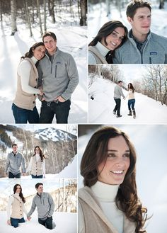 snowy engagement shoot on COUTUREcolorado