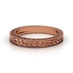 Charlotte Band, Rose Gold Ring from Gemvara