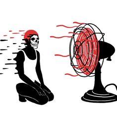 fan, Bloody Dairy by Min Liu, #gif illustration #animation