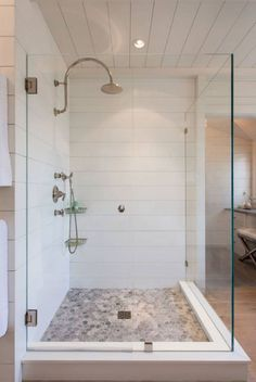 A walk-in shower creates a nice roomy feeling for yourbathroom remodeling project. The lack of obstructions provides a seamless transition from the rest of the bathroom into the shower area. Not only is a walk in shower safer, especially for the elderly and children, it also works perfectly for those who desire a