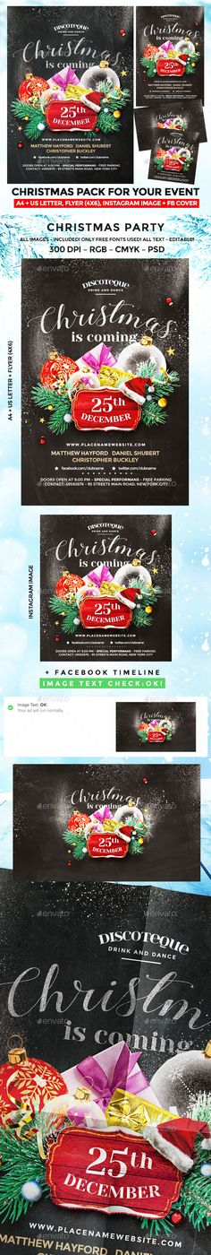 Christmas Party Flyer  Party Flyer Flyer Template And Christmas