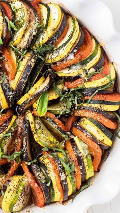 A perfect ratatouille recipe, perfect for using up summer zucchini, eggplant, and tomatoes. This easy ratatouille recipe will be a hit at summer dinners!