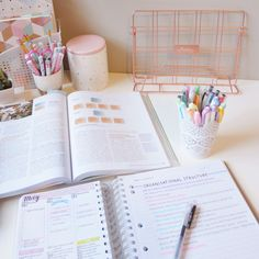 the-girlygeek: // My lil study situation from Thursday 🌸 Apologies for being MIA this week, I was in quite a bit of pain at the beginning of the week and the baby brother has just gotten sick. Study Areas, Study Space, Study Desk, Book Study, School Motivation, Study Motivation, Study Corner, Study Organization, School Stationery