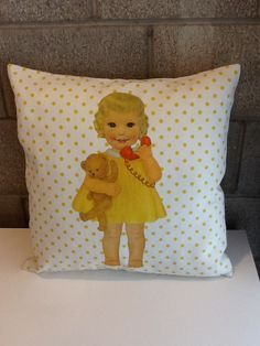 Paper doll cushions, be my baby!