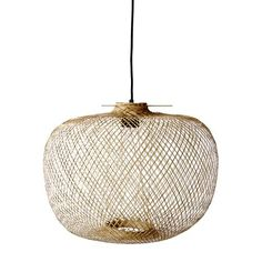Luminaire - Suspensions - Suspension Bamboo / Ø 42 x H 30 cm - Bloomingville - Naturel - Bambou Bamboo Pendant Light, Lamp Design, Ceiling Lights, Light Shades, Ceiling Pendant Lights, Bamboo Lamp, Light Fittings, Pendant Lamp Design, Pendant Light