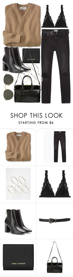 """Untitled #1976"" by alx97 ❤ liked on Polyvore featuring Zara, Pieces, Monki, Balenciaga, Forever 21, Yves Saint Laurent, Ray-Ban, women's clothing, women's fashion and women"
