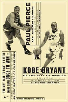 nike posters Paul Pierce Kobe Bryant