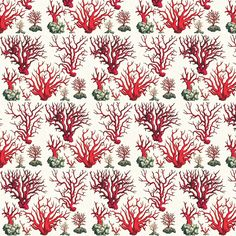 Vintage Corals fabric by Ravynka