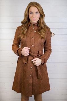 Sasha Suede Button Up Jacket from Maude #maudeblogger