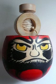 Spinning top - Daruma flip over  #toy,#spinningtop,#wood
