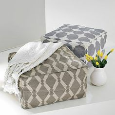 bean bag cubes, poufs, cute for kids room or stacked in front room?