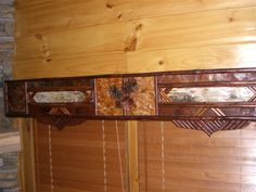 Natural color cornice board I created for a client for entire living room Diy Projects To Try, Wood Projects, Rustic Valances, Rustic Window Treatments, Window Cornices, Cornice Boards, Birch Bark, Picture Frames, New Experience