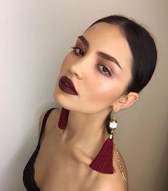 Dark lips 587156870156739755 - 62 trendy nails dark maroon eye makeup Source by Makeup Goals, Makeup Inspo, Makeup Inspiration, Makeup Ideas, Burgundy Lips, Red Lips, Burgundy Makeup, Beauty Make-up, Beauty Hacks