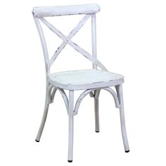 The Rustic Cross Back Outdoor Chair is the perfect addition to home, any cafe, restaurant. This chair styles perfectly with decors including rustic country, elegant french provincial as well as vintage industrial. Whatever your style, this gorgeous chair is sure to please!