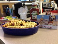 Slinky dogs!! They were a hit! Gone in 5 minutes!