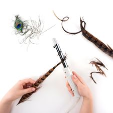shaping feathers curling iron