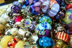 A pile of Trollbeads bracelets!