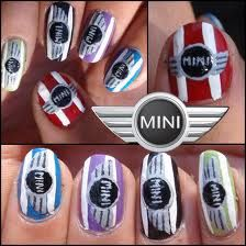 nail art for the Mini car lovers.