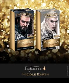 Hair color from Middle Earth- black (Thorin), blond (Thranduil) ♥