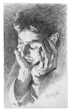 """insipit: """"John Singer Sargent United States/England) Drawings John Singer Sargent was a prolific American artist, resident many years in Europe, and one of the leading portrait painters of. John Singer Sargent, Sargent Art, Portrait Sketches, Portrait Art, Art Sketches, Art Drawings, Pencil Portrait, Portraits, Life Drawing"""