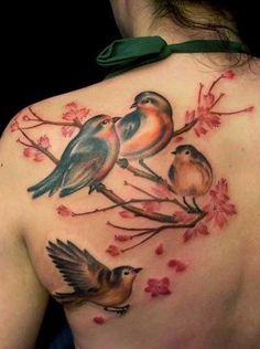 tatuagens realistas de passaros - Pesquisa Google