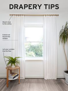 How To Install Curtain Holdbacks Design Ideas Combine With Indoor Potted Plant Viewing Gallery
