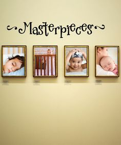 Black 'Masterpieces' Wall Quote  Bought this to Display the kids artwork  Zulily today