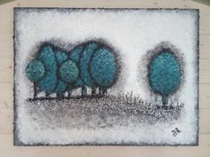 A Walk on The Wild Side - A Large and Original Textured Abstract Painting of Trees on a Hillside in Indigo, Teal, Blue Acrylics on Canvas Teal Art, Teal Blue, Tree Wall Art, Blue Canvas, Wooden Bar, Texture Art, Abstract Wall Art, Walk On, Landscape Paintings