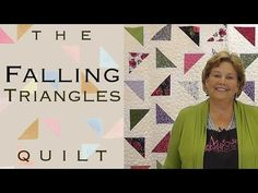 Falling triangle quilt pattern