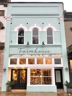 Building Facade, Building Exterior, House Building, Shop Front Design, Store Design, Café Exterior, French Exterior, Exterior Signage, Exterior Cladding
