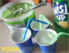 #Yoda Soda for a Star Wars Birthday Party #StarWars #Party www.blog.hwtm.com