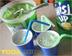 Star Wars Birthday Party, yoda soda!