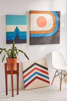 Gnarly Stretch Canvas Art Diy Canvas, Canvas Art, Canvas Walls, Simple Closet, Living Room Mirrors, Simple Colors, Room Accessories, Bohemian Decor, Modern Bohemian